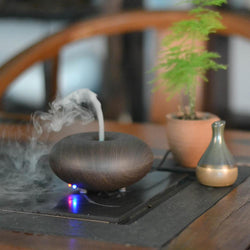 Wood Grain Ultrasonic Led light Aromatherapy Essential Oil Diffuser/Nebulizer