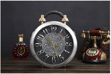 Load image into Gallery viewer, Round Vintage Working Clock Handbag silver - Go Steampunk