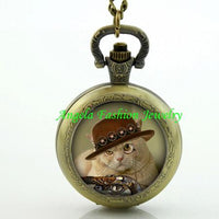 Steampunk Cat Pocket Watch 10 - Go Steampunk