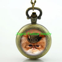 Steampunk Cat Pocket Watch 14 - Go Steampunk
