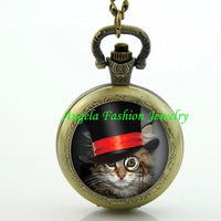 Steampunk Cat Pocket Watch 8 - Go Steampunk