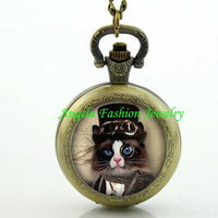 Steampunk Cat Pocket Watch 4 - Go Steampunk