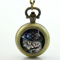 Steampunk Cat Pocket Watch - Go Steampunk