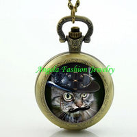 Steampunk Cat Pocket Watch 3 - Go Steampunk