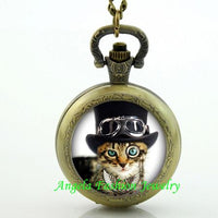 Steampunk Cat Pocket Watch 2 - Go Steampunk