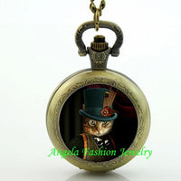 Steampunk Cat Pocket Watch 11 - Go Steampunk