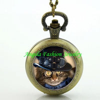 Steampunk Cat Pocket Watch 5 - Go Steampunk