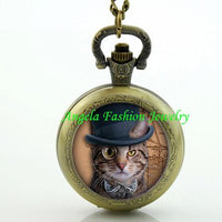 Steampunk Cat Pocket Watch 7 - Go Steampunk