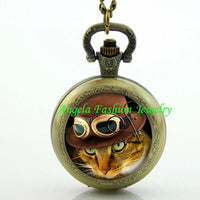 Steampunk Cat Pocket Watch 12 - Go Steampunk