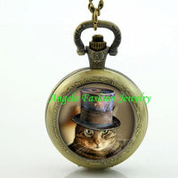 Steampunk Cat Pocket Watch 9 - Go Steampunk
