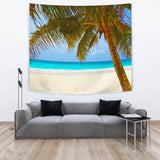 "TAPESTRY PALM TREE BEACH TapestryTAPESTRY PALM TREE BEACH / Large 104"" x 88"" - Go Steampunk"