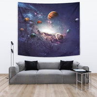 "Creating Planets of the Solar System TapestryCreating Planets of the Solar System / Large 104"" x 88"" - Go Steampunk"