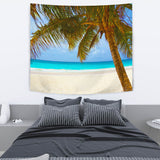 "TAPESTRY PALM TREE BEACH TapestryTAPESTRY PALM TREE BEACH / Medium 80"" x 68"" - Go Steampunk"