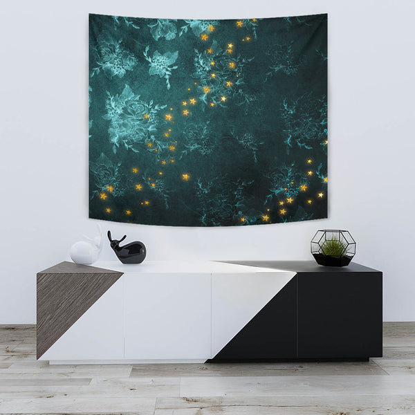 "Mystical Stars D2 Wall Tapestry TapestryMystical Stars D2 Wall Tapestry / Small 60"" x 51"" - Go Steampunk"