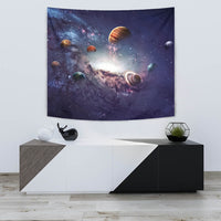 "Creating Planets of the Solar System TapestryCreating Planets of the Solar System / Small 60"" x 51"" - Go Steampunk"