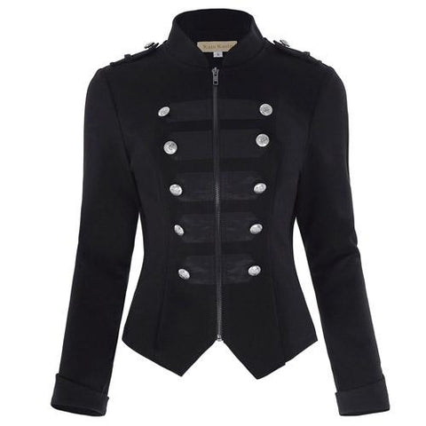 Women's Military Jacket 1 / S - Go Steampunk