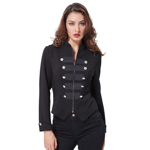 Women's Military Jacket - Go Steampunk