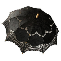 Handmade Embroidery Lace Parasol - Go Steampunk