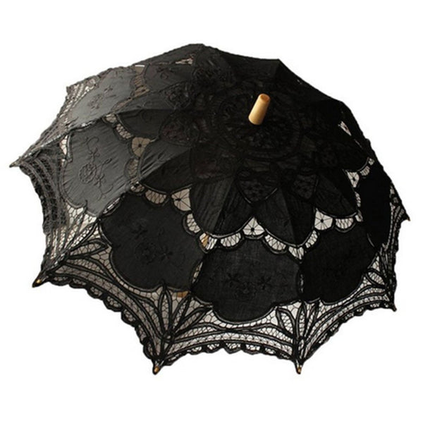 Handmade Embroidery Lace Parasol