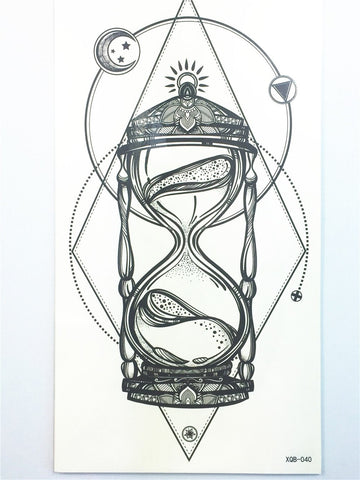 Mystical Hourglass Tatuagem Temporary Tattoo