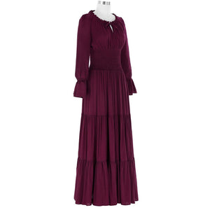 Long Sleeve Floor Length Dress - Go Steampunk