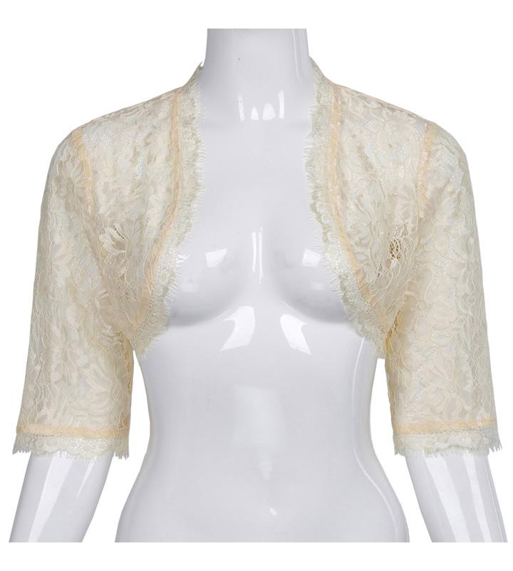 Lace Bolero Jacket Beige Lace Jacket / S - Go Steampunk