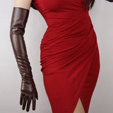 Fau Leather Patent Opera Gloves