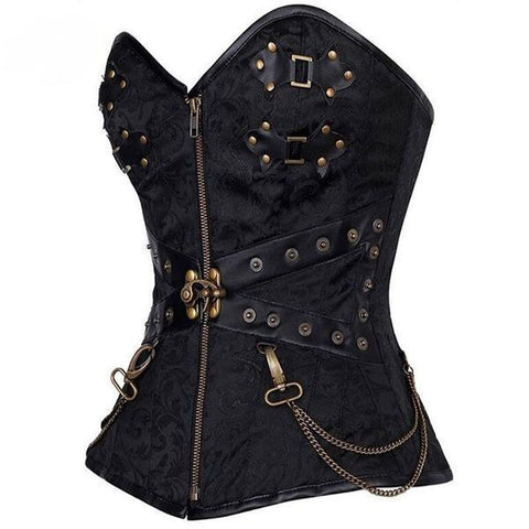 Steampunk Corset Bustier With Chains