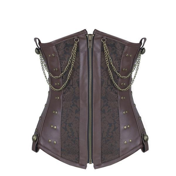 Double Breasted Steampunk Underbust Corsets Picture / S / United States - Go Steampunk
