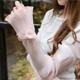 Chiffon Long Sleeve Arm Warmers
