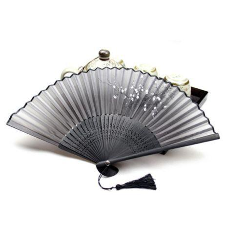 Folding Bamboo Flower Hand Fan