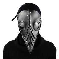 Black Vegan Leather Plague Doctor Mask