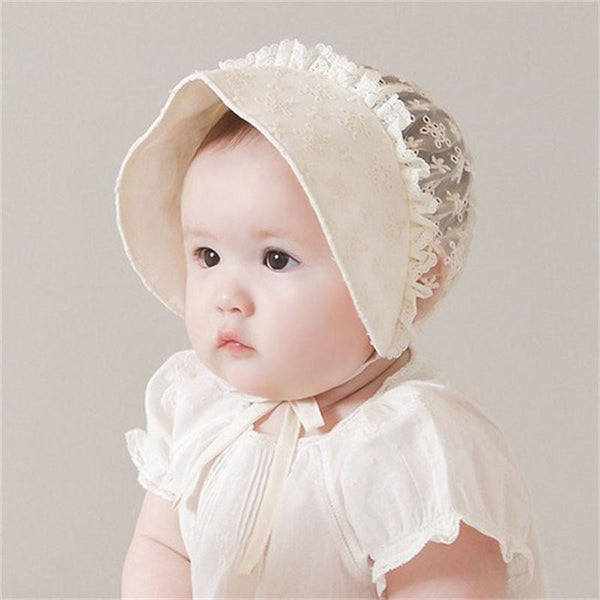 Enfant Lace Victorian Princess Baby Bonnet