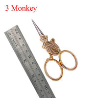 Antique Style Animal Embroidery Thread Scissors Monkey - Go Steampunk