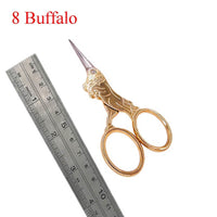 Antique Style Animal Embroidery Thread Scissors Buffalo - Go Steampunk