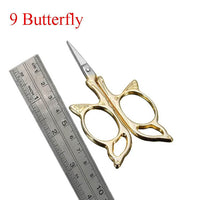 Antique Style Animal Embroidery Thread Scissors Butterly - Go Steampunk