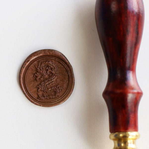 Dragon wax seal stamp - Go Steampunk