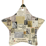 Antique Ads Christmas Star Ornament SUBORNS Ceramic Star Ornament / Forest / One Size - Go Steampunk