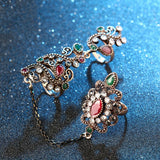 Vintage Flower Knuckle Ring Set - Go Steampunk
