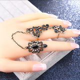 Vintage Flower Knuckle Ring Set