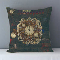 Vintage Steampunk Printed Decorative Pillow Covers J6 4 - Go Steampunk
