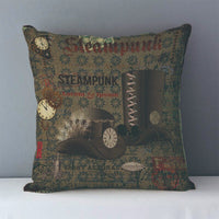 Vintage Steampunk Printed Decorative Pillow Covers J6 5 - Go Steampunk