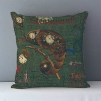Vintage Steampunk Printed Decorative Pillow Covers J6 2 - Go Steampunk