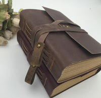 Handmade Vintage Leather Diary Sketchbook Travel Journal - Go Steampunk