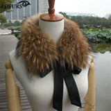Real Raccoon Fur Collar with Ribbon with black ribbon - Go Steampunk