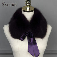 Real Raccoon Fur Collar with Ribbon purple - Go Steampunk