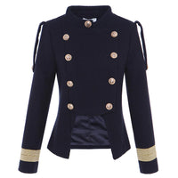 Double Breasted Wool Military Jacket - Go Steampunk