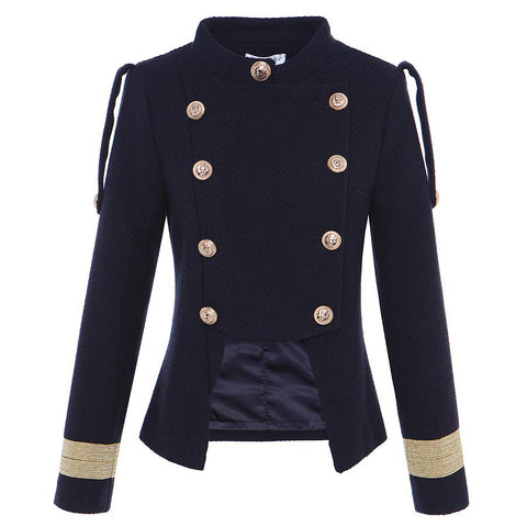 Double Breasted Wool Military Jacket