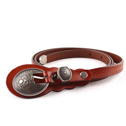 Vintage Royal Buckle Genuine Leather Belt