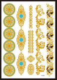 Metallic Waterproof Temporary Tattoos 25 Designs